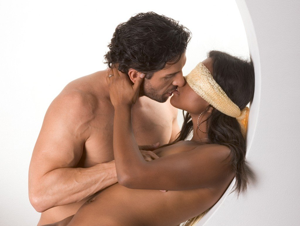 dominant man blindfold woman